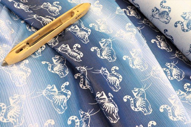 """PRODUKTY Nosící šátek > látka bavlněná modrá duha """"Kotě"""""""